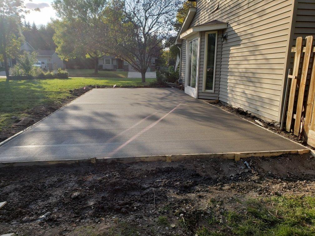 concrete patio in Andover MN
