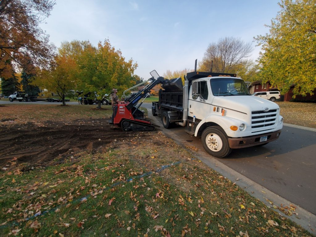 landscaping renovation in Andover, MN